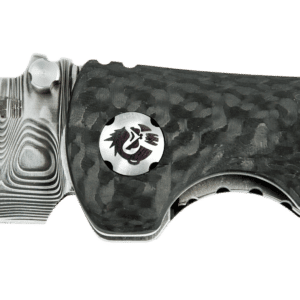 Spider Monkey Drop Point - Non-Serrated - Damascus - Carbon Fiber - By Southern Grind